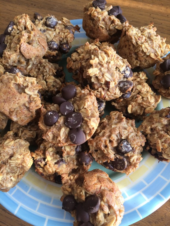 Almond Butter and Dark Chocolate Mini Muffins